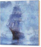 Ships Ahoy Wood Print