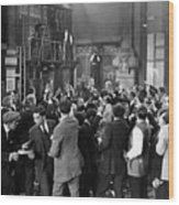 Silent Film Still: Crowds Wood Print