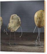 Simple Things - Potatoes Wood Print