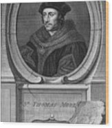 Sir Thomas More, English Statesman Wood Print by Middle Temple Library