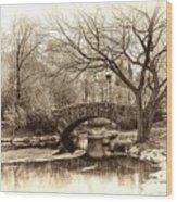 South Bridge - Central Park Wood Print