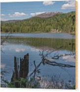 South Skookum Lake Wood Print