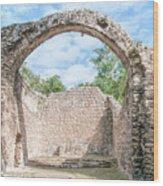 Spanish Chapel At Oxtankah Wood Print