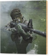 Special Operations Forces Soldier Wood Print