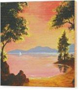Spirit  Lake Wood Print