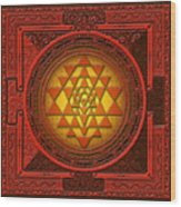 Sri Yantra Wood Print by Lila Shravani