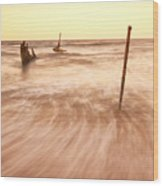 S.s Dicky Shipwreck Wood Print