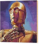 Star Wars Episode 2 Art Wood Print