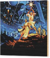 Star Wars Episode Iv - A New Hope 1977 Wood Print