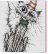 Stinker The Cat Wood Print