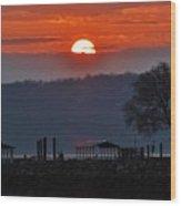 Stony Point Sunrise Wood Print