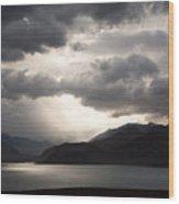 Storm On Karakul Lake Wood Print by Konstantin Dikovsky