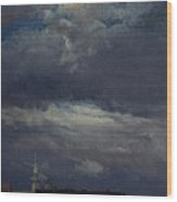 Stormclouds Over The Castle Tower In Dresden  Wood Print