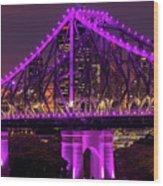 Story Bridge In Brisbane, Queensland Wood Print