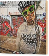 Street Phenomenon Lil Wayne Wood Print by The DigArtisT