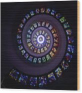 Spiral Stained Glass Wood Print