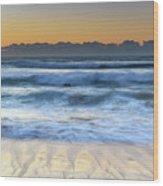 Sunrise By The Sea Wood Print