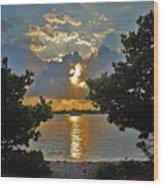 3- Sunrise Cruise Wood Print