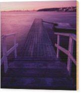 Sunset At Langedrag, Gothenburg Wood Print