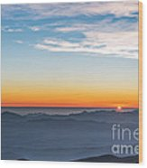 Sunset Over The La Silla Observatory Wood Print