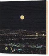 Super Moon In Las Vegas Wood Print