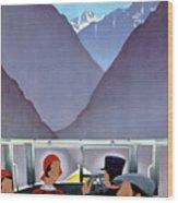 Switzerland Vintage Travel Poster Restored Wood Print