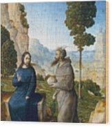 Temptation Of Christ Wood Print