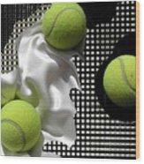 3 Tennis Balls Wood Print