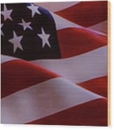 The American Flag Wood Print