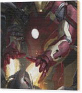 The Avengers Age Of Ultron 2015  Wood Print