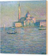 The Church Of San Giorgio Maggiore - Venice Wood Print