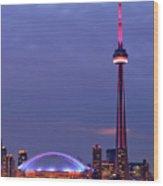The City Of Toronto Wood Print