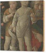 The Holy Family With Saint John Wood Print