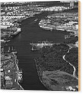 The Houston Ship Channel Wood Print