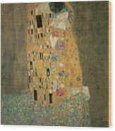 The Kiss Wood Print by Gustav Klimt