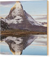 The Matterhorn Mountain In Switzerland Wood Print