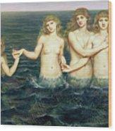 The Sea Maidens Wood Print