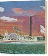 The Steamship Syracuse Wood Print