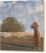 The Young Shepherdess Wood Print