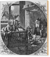 Thomas Nast: Christmas Wood Print by Granger