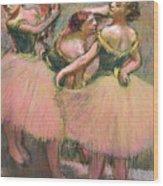 Three Dancers Wood Print