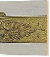 Tie-back Wood Print