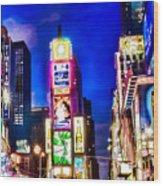 Times Square Wood Print