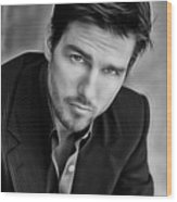 Tom Cruise Collection Wood Print