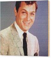 Tony Curtis Vintage Hollywood Actor Wood Print
