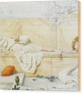 Two Classical Figures Reclining Henry Ryland Wood Print