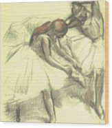 Two Dancers Wood Print by Edgar Degas