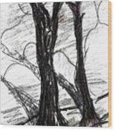 Two Tree Wood Print