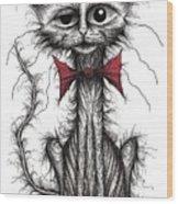 Ugly Cat Wood Print