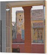 Untitled Building Wood Print